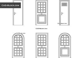 typical door types autocad blocks in plan