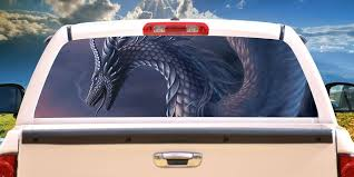 Amazon Com Signmission Dragon Rear Window Graphic Decal Tint Film See View Thru Vinyl Home Kitchen