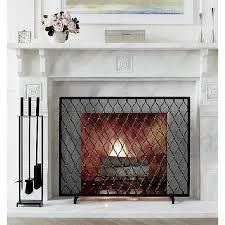 corbett bronze fireplace screen with