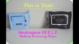 neutrogena vs e l f makeup wipes