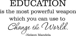 Nelson Mandela Education Wall Art Quote Vinyl Decal Sticker Mural Home Decor