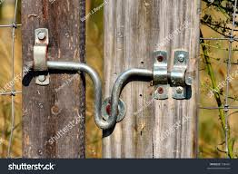 Simple Fence Gate Latch Stock Photo Edit Now 738420