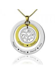 family tree names necklace sterlla uk