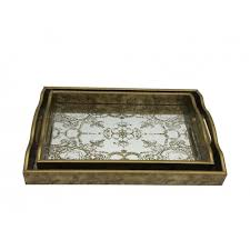 decorative mirrored tray nordic style