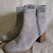 Frye Shoes | Frye Addie Gray Suede Double Zip Ankle Booties | Poshmark