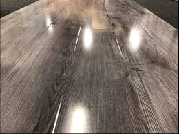 high gloss grey oak laminated flooring