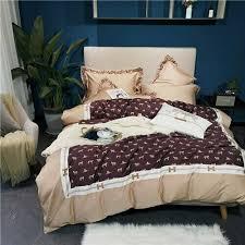 luxury bedding set silky duvet cover