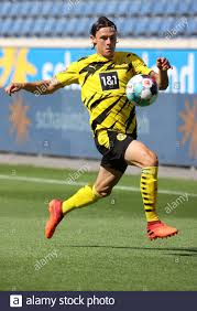 Duisburg, Deutschland. 23rd Aug, 2020. firo: 22.08.2020, Fuvuball: Soccer:  1st Bundesliga test match tournament CUP OF TRADITIONS test match season  2020/21 MSV Duisburg - BVB, Borussia Dortmund 1: 3 Nico Schulz, individual