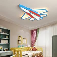 Best Promo 5f1f94 Aircraft Children S Lamp Modern Led Chandelier Bedroom Boy Girl Children S Room Home Decoration 90 260v Ceiling Chandelier Cicig Co
