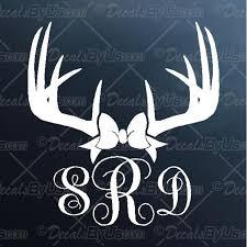 Antlers Bow Monogram Decal Antlers Bow Monogram Car Sticker New Designs