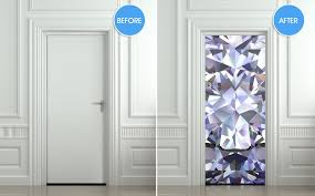Door Wall Sticker Poster Diamond Shimmer Shine Bling Rhinestone Cover Pulaton Stickers And Posters