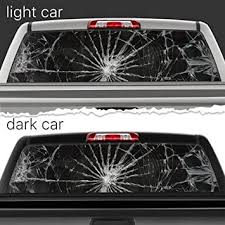Amazon Com Broken Glass Shattered Crack Perforated Vinyl Decal Rear Window Car N718 Frst 29x66 Baby