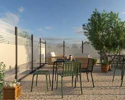 Glass Windbreak Panels For Outdoor Partitions