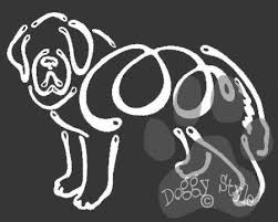 K Line Saint Bernard Dog Car Window Decal Tattoo Doggy Style Gifts