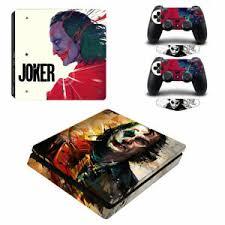 Ps4 Slim Console Skin Sticker The Joker Theme Vinyl Design Decal Protector Cover Ebay