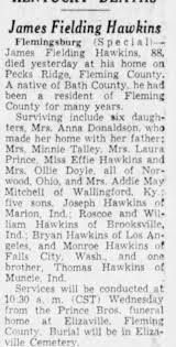 Obituary for James Fielding Hawkins (Aged 88) - Newspapers.com