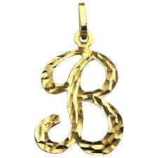 vintage 14k gold pendant charm letter