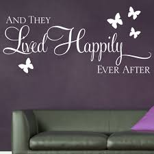 And They Lived Happily Ever After Wall Sticker Decals 1