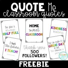 quote me classroom quotes no prep bie tpt