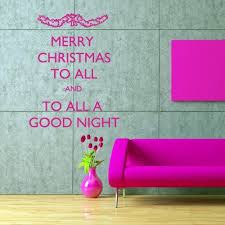 Wall Decal Decor Decals Art Merry Christmas Spruce Inscription Letter Congratulation Gift Good Night M556 Decorw Sticker Art Wall Decals Congratulations Gift