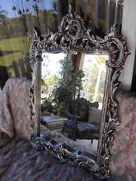 ornate wall mirror new paint silver