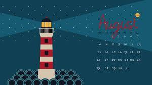 august 2018 hd calendar wallpaper