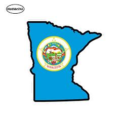 Hotmeini 13cm X 12cm Car Styling Minnesota Flag Map Shape Printed Vinyl Decal Sticker Mn Usa Waterproof Car Sticker Graphical Car Stickers Aliexpress