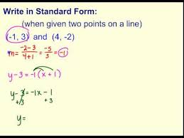 standard form when given two points