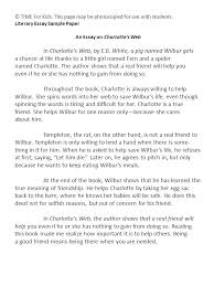 an essay on charlotte s web ppt video online