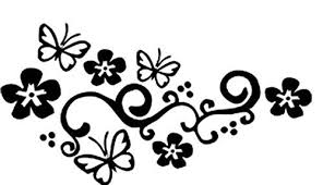 Livdat 1 Pair Flower Vine Butterfly Car Decal Sticker For Laptop Tablet Window Wall Racing Sports Auto Car Truck Motorcycle Siyyarati سيارتي