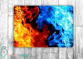 Laptop Skin Abstract Graphic Fire Notebook Vinyl Decal Dell Hp Etsy