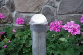 Summit Solar Post Cap Light For Chain Link Fence Posts