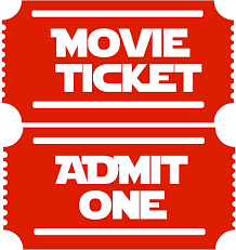 Amazon Com Movie Tickets 2 Admit One New Large Theater Room Wall Decor Decal Dark Red Home Kitchen