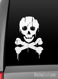 Dripping Poison Sign Skull And Bones Decal For Laptop Window Car Bumper Biohazard Radioactive Gamer Poison Sign Skull And Bones Car Bumper