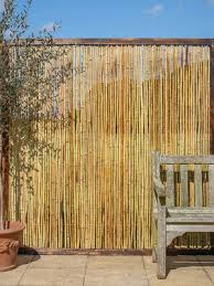 bamboo cane framed fence panel 6ft x