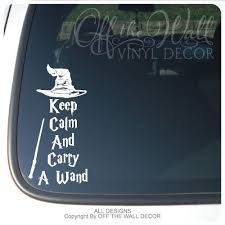 Harry Potter Keep Calm And Carry A Wand Vinyl Car Decal Sticker Harry Potter Decal Car Decals Vinyl Car Decals Stickers