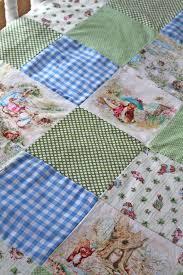 beatrix potter patchwork quilt minky