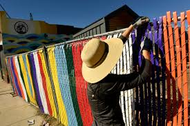 Formerly Homeless Tiny Village Residents In Denver Get A Colorful Privacy Fence The Denver Post