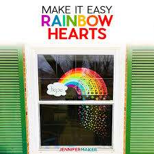 Rainbow Of Hearts Window Show Your Love Support Jennifer Maker
