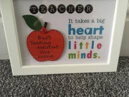 teacher personalised gift teaching assistant gift photo