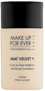 mat velvet matifying foundation
