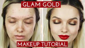 glamorous golden makeup tutorial