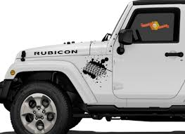 Product Mud Tire Tracks Jeep Vinyl Decal Hood Rubicon Renegade Sticker Car Truck Vehicle Kit