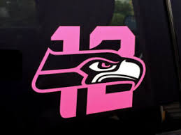 Seahawks 12th Man Vinyl Die Cut Decal Sticker Pink White Car Decal Ebay