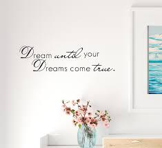 Wall Decal Dreams Comes True Motivation Phrase Interior Vinyl Decor Bl Wallstickers4you
