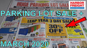 huge parking lot march 2020