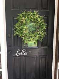 Hello Door Decal Custom Vinyl Decal Sticker Front Door Vinyl Etsy