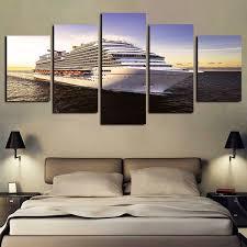 2019 5 panels ocean ship boat seaview