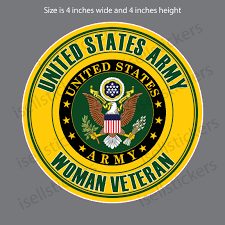Proud Woman Female Veteran Us Army Military Bumper Sticker Decal
