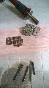 wood burning tool branding iron wood